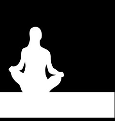 Calm and pacification silhouette of seated girl vector