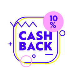 cash back banner with abstract shapes and lines vector image