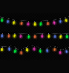 christmas glowing lights vector image