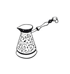 coffee pot icon vector image