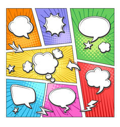 comic book bubbles layout vector image