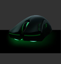 computer mouse with green neon vector image