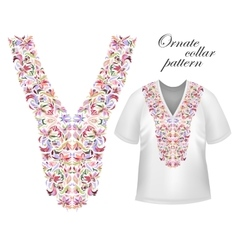 Design for collar shirts shirts blouses t-shirt vector