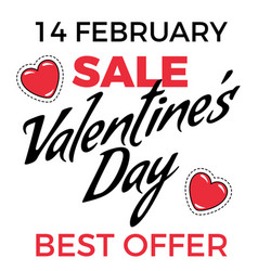 designed greeting with valentines day best sale vector image