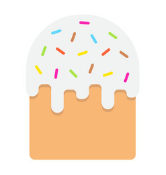 Easter cake flat icon easter and holiday vector