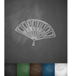 fan icon Hand drawn vector image vector image