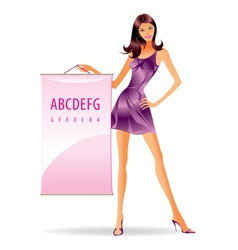 Fashion model with advertising message vector