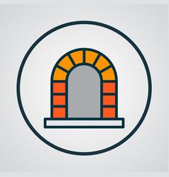 fireplace icon colored line symbol premium vector image