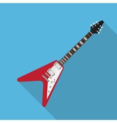 flat guitar 3 vector image