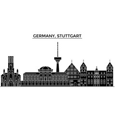 Germany stuttgart architecture city vector