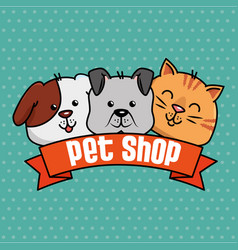 Group mascots pet shop vector