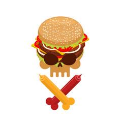 hamburger and ketchup and mustard symbol harm is vector image