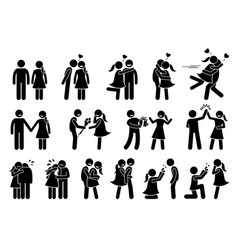happy couple and lover boyfriend and girlfriend vector image