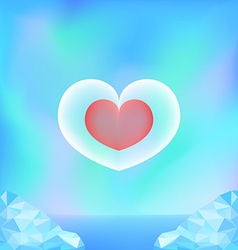 heart on ice vector image