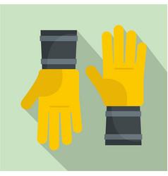honey gloves icon flat style vector image