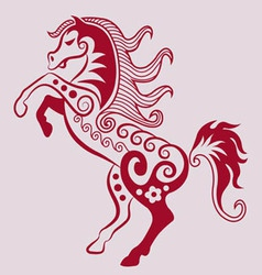 Horse ornament vector