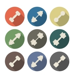 Icons dumbbell vector
