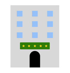 isolated hotel icon vector image
