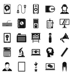 It business icons set simple style vector