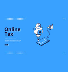 landing page online tax smart mobile payment vector image