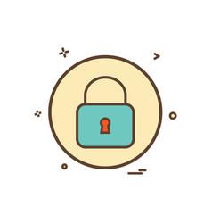 lock basic icon design vector image