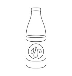 Lotion icon in outline style isolated on white vector image