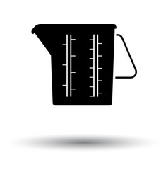 measure glass icon vector image