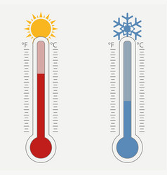 Meteorological thermometer vector