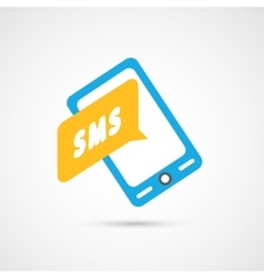 Modern colorful flat social icon of Smartphone vector image