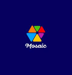 mosaic logo vector image