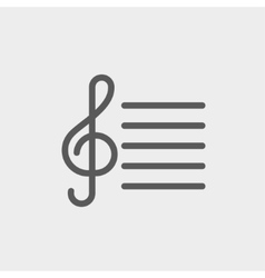 Musical Note thin line icon vector