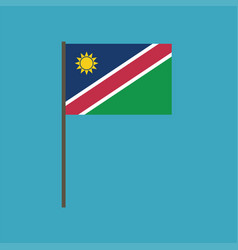 namibia flag icon in flat design vector image