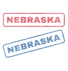 Nebraska textile stamps vector