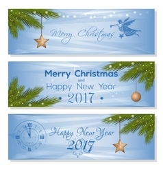 New Year 2017 design set Festive background for vector