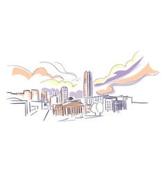 oklahoma city usa america sketch city line art vector image