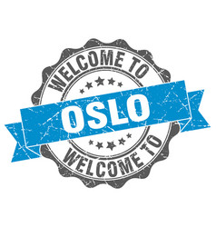 oslo round ribbon seal vector image