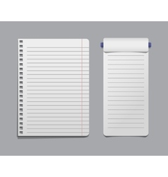 Paper notes sheet for message vector image