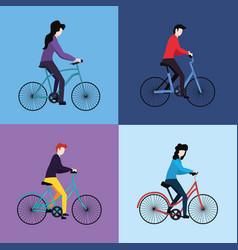 people activities concept vector image