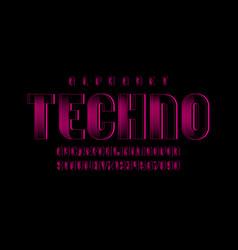 Pink technical font digital alphabet vector