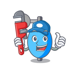 Plumber ambu bag mascot cartoon vector