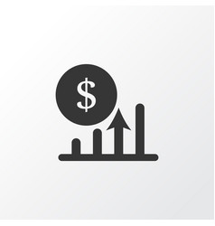 profit icon symbol premium quality isolated vector image