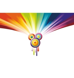 rainbow party banner vector image
