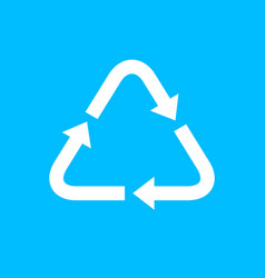 Recycle icon template arrow recycle triangle logo vector