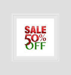 Sale label template vector