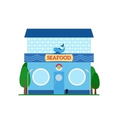 Seafood flat style icon isolated on white vector image