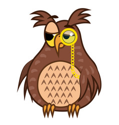 Set isolated emoji character cartoon sarcastic owl vector