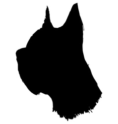 Silhouette of dog vector