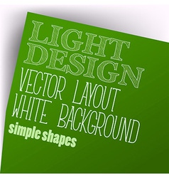 Simple Layout vector image