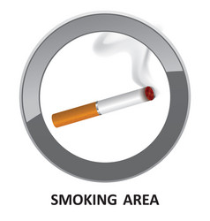 Smoking area label smoking area icon info sign vector