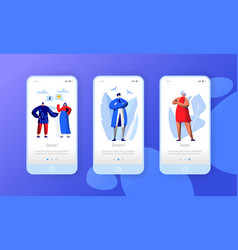 social media network business character mobile app vector image
